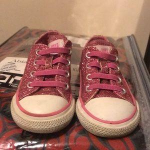Pink Glittery Converse CHILD
